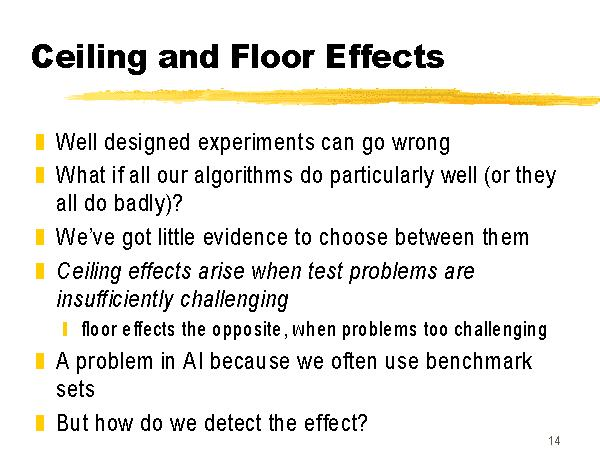 Ceiling And Floor Effects
